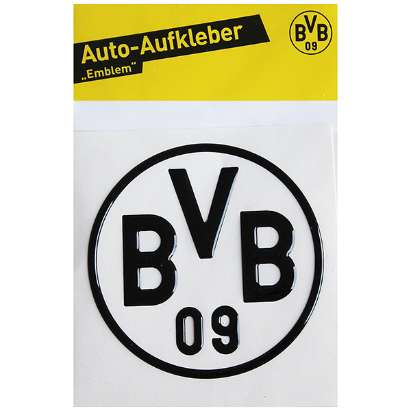bvb borussia dortmund aufkleber bvb logo 3d schwarz neu ebay. Black Bedroom Furniture Sets. Home Design Ideas