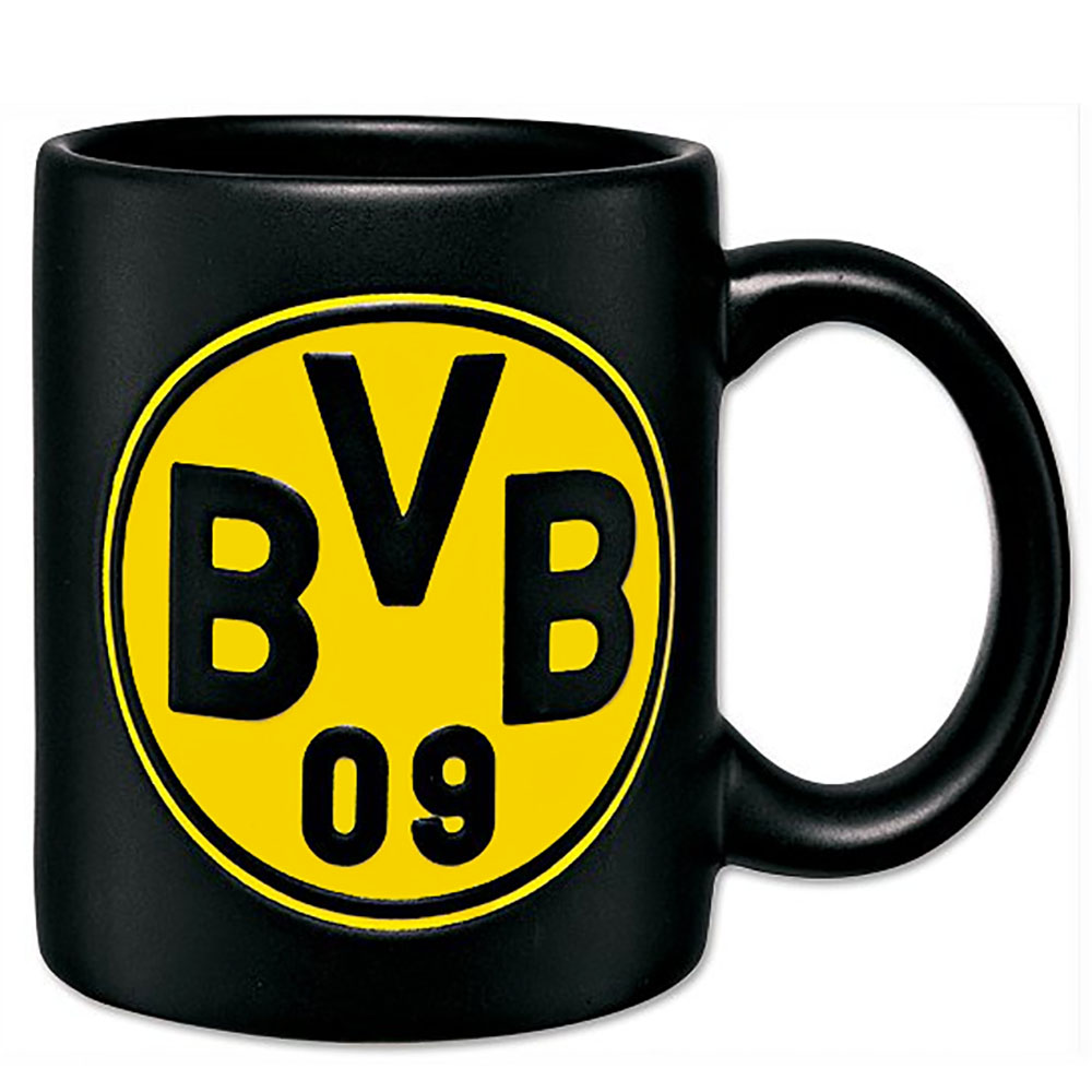 bvb borussia dortmund kaffeebecher becher tasse bvb logo 3d neu ebay. Black Bedroom Furniture Sets. Home Design Ideas