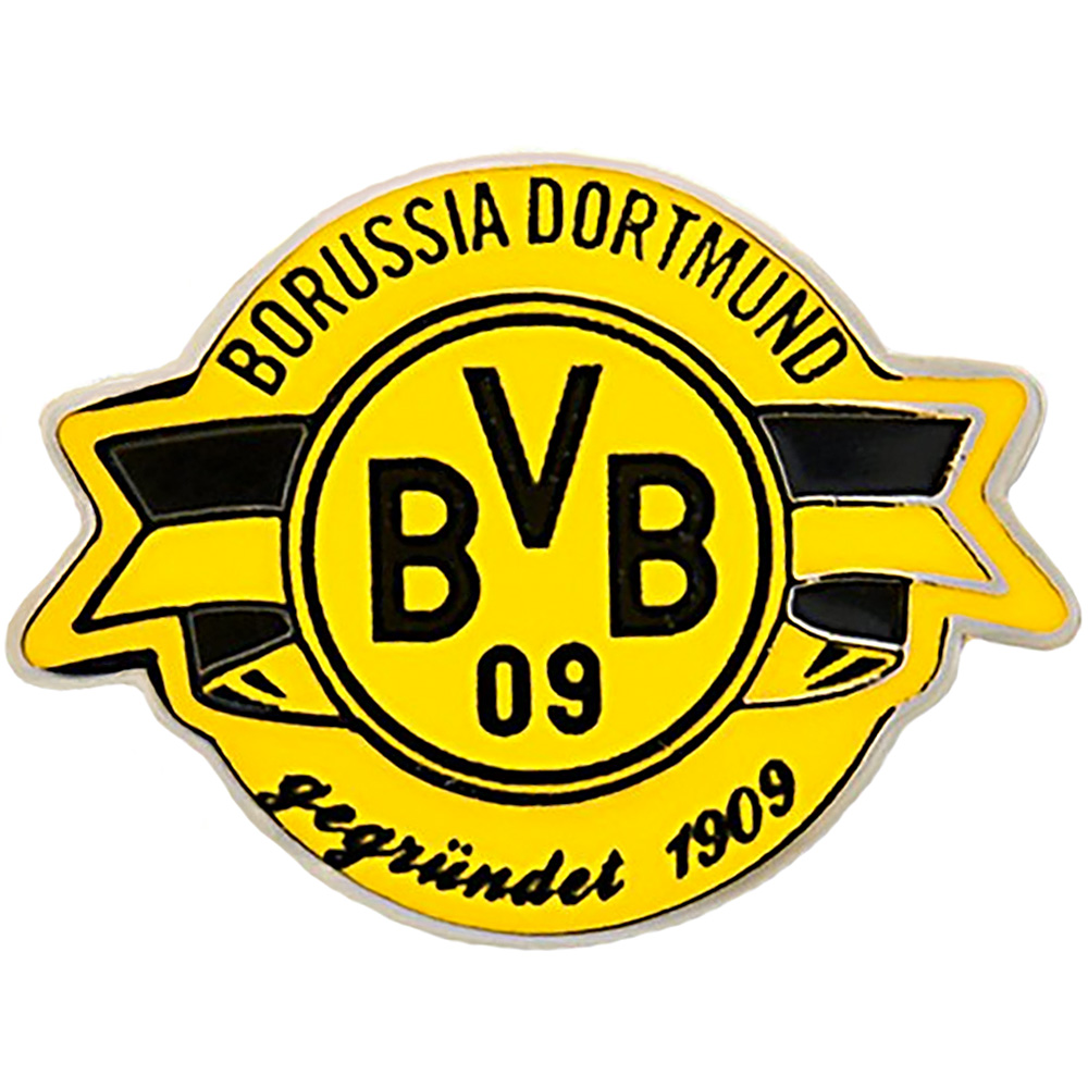 bvb borussia dortmund pin gr ndungsjahr 1909 bvb logo ebay. Black Bedroom Furniture Sets. Home Design Ideas