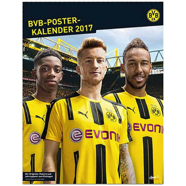 bvb borussia dortmund posterkalender kalender 2017 bvb spieler neu. Black Bedroom Furniture Sets. Home Design Ideas