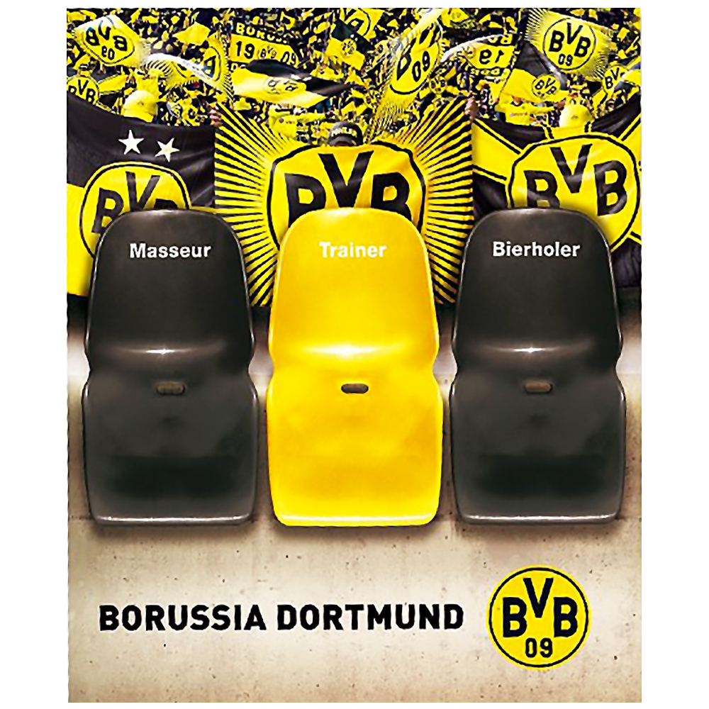 bvb borussia dortmund sofa berwurf masseur trainer bierholer neu ebay. Black Bedroom Furniture Sets. Home Design Ideas