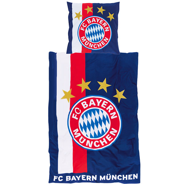 fc bayern m nchen bettw sche navy. Black Bedroom Furniture Sets. Home Design Ideas