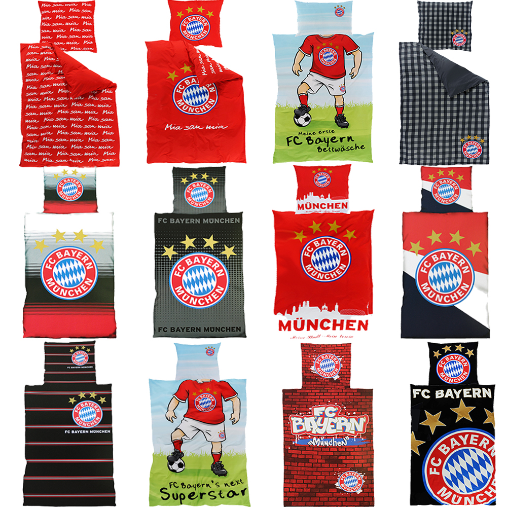 fc bayern m nchen bettw sche neuheiten motive zur auswahl ebay. Black Bedroom Furniture Sets. Home Design Ideas