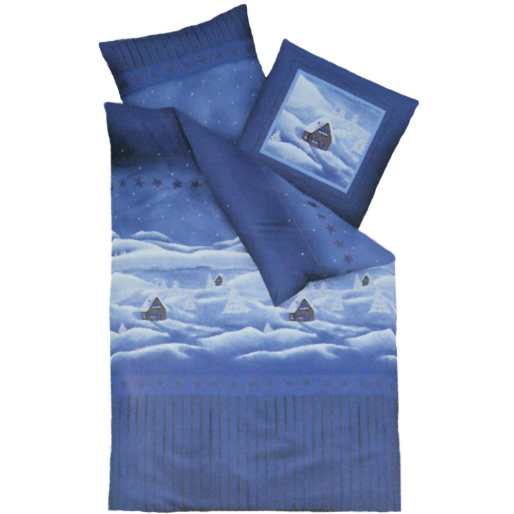 bettw sche weihnachten winterlandschaft schneemann biber. Black Bedroom Furniture Sets. Home Design Ideas