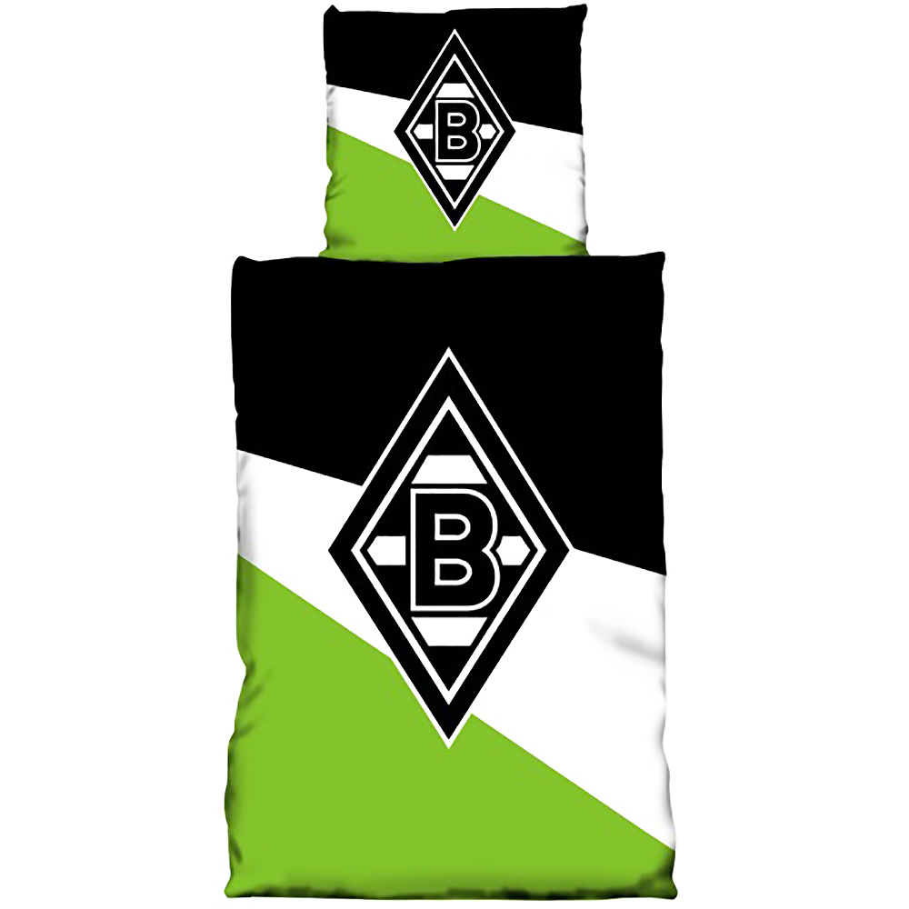 Borussia Mönchengladbach Bettwäsche Logo Schrägstreifen