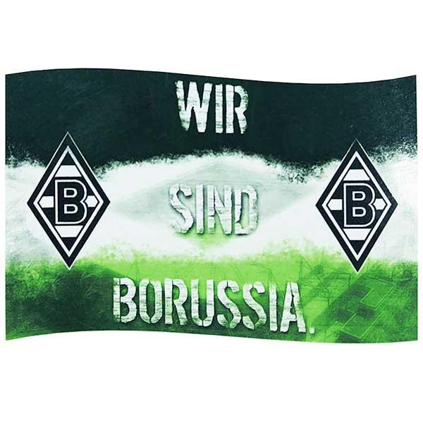 Borussia Mönchengladbach Fahne Wir sind Borussia 140 x 90 cm