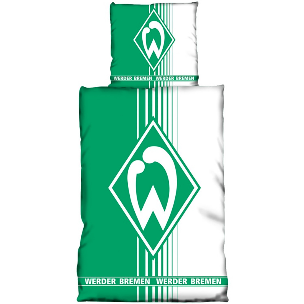 sv werder bremen bettw sche gr n wei. Black Bedroom Furniture Sets. Home Design Ideas