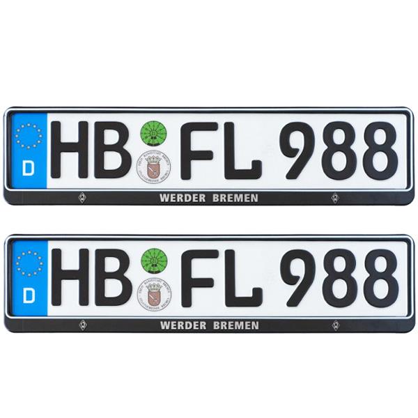 SV Werder Bremen Kennzeichenverstärker 2er-Set