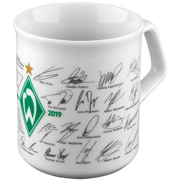 SV Werder Bremen Tasse Unterschriften 2018/2019