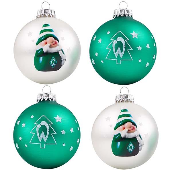 Sv werder bremen christbaumkugeln 4er set for Weihnachtskugeln bilder