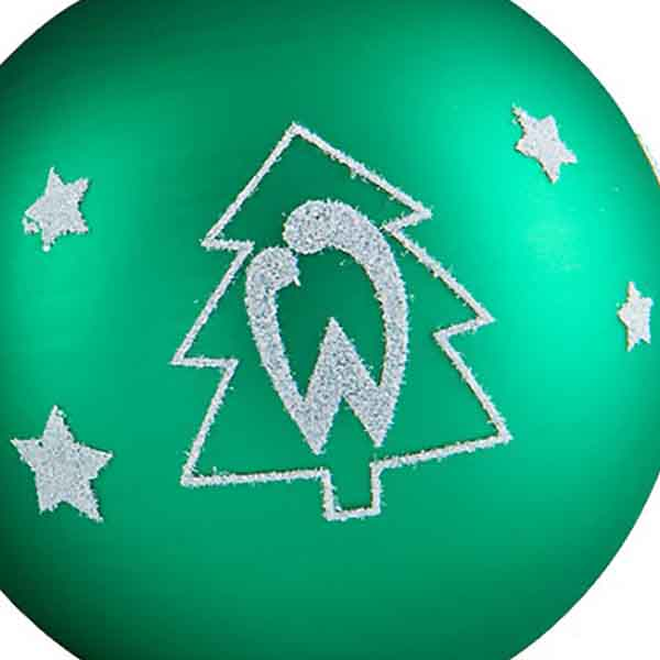 Frohe Weihnachten Werder Bremen.Eintracht Frankfurt Christbaumkugeln