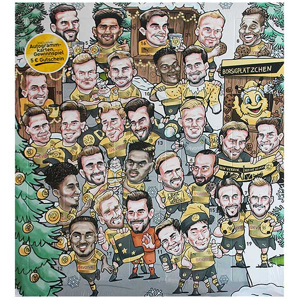 BVB Adventskalender 2017 Comic 100 g / € 7,48