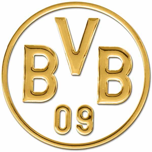 BVB Aufkleber BVB Logo 3D gold