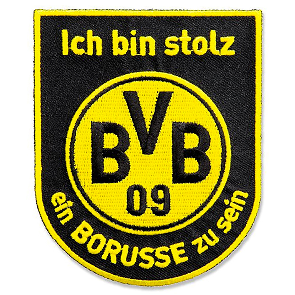 BVB Aufnäher Ich bin stolz ein Borusse zu sein