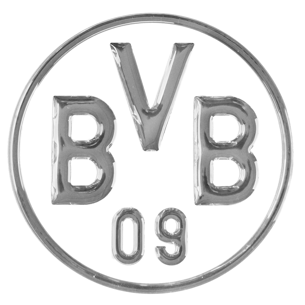 bvb aufkleber bvb logo 3d silber. Black Bedroom Furniture Sets. Home Design Ideas