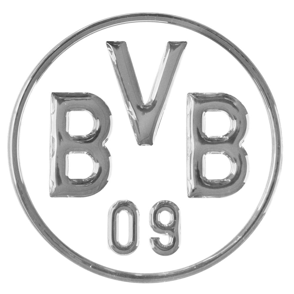 BVB Aufkleber BVB Logo 3D silber