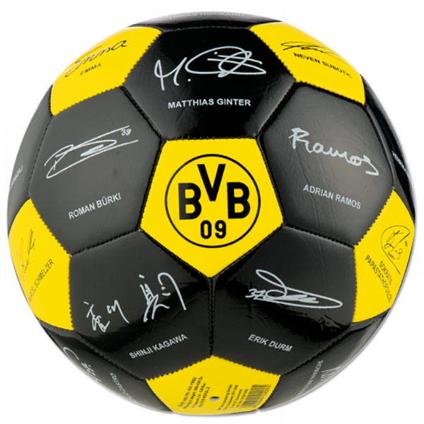 bvb borussia dortmund unterschriften ball bvb autogramme 2016 2017 gr 5 neu ebay. Black Bedroom Furniture Sets. Home Design Ideas