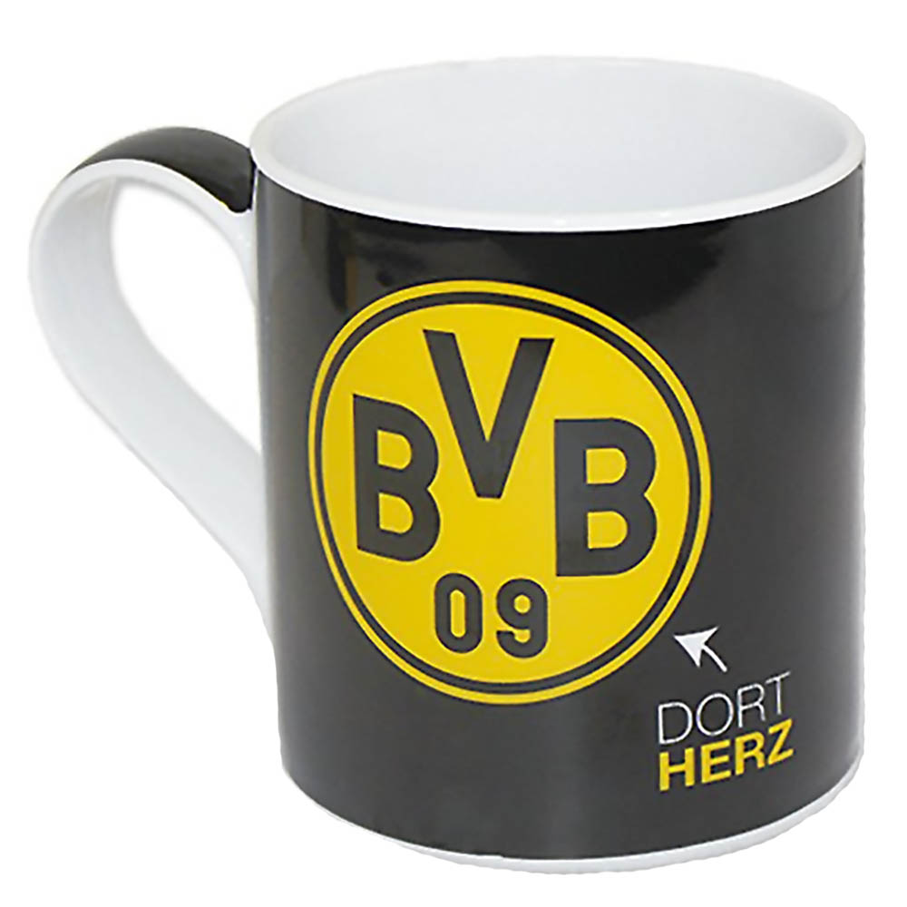 bvb borussia dortmund kaffeebecher becher tasse borussia dortmund neu ebay. Black Bedroom Furniture Sets. Home Design Ideas