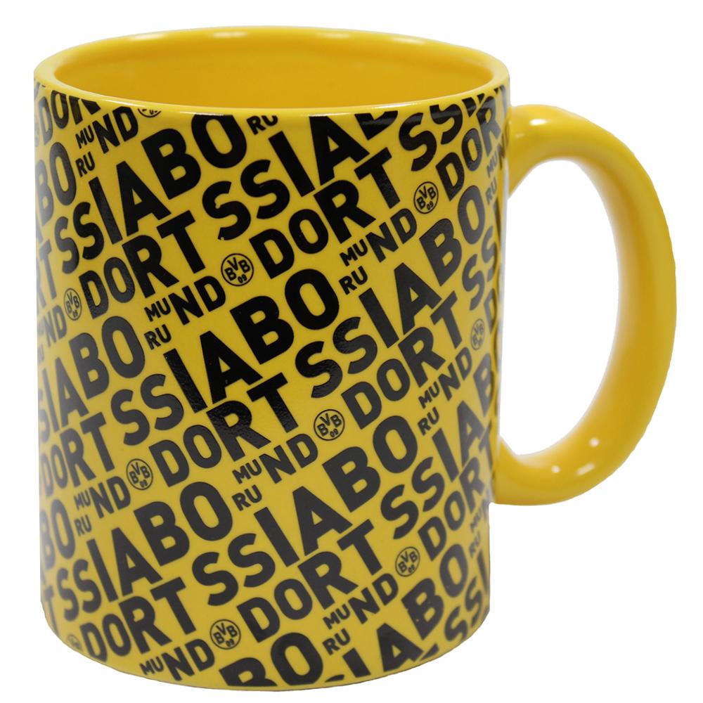 BVB Kaffeebecher Borussia Dortmund Schriftzüge