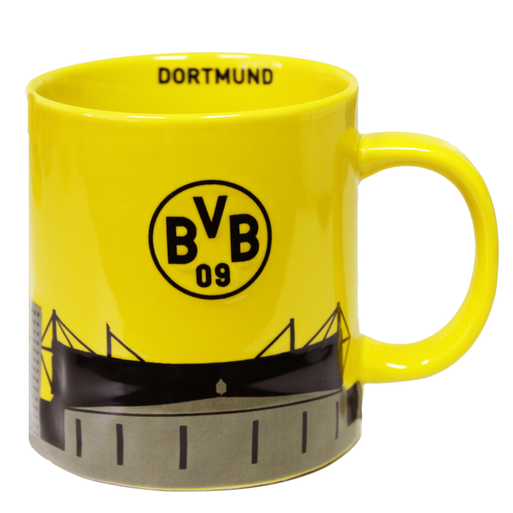 bvb borussia dortmund kaffeebecher becher tasse skyline ebay. Black Bedroom Furniture Sets. Home Design Ideas