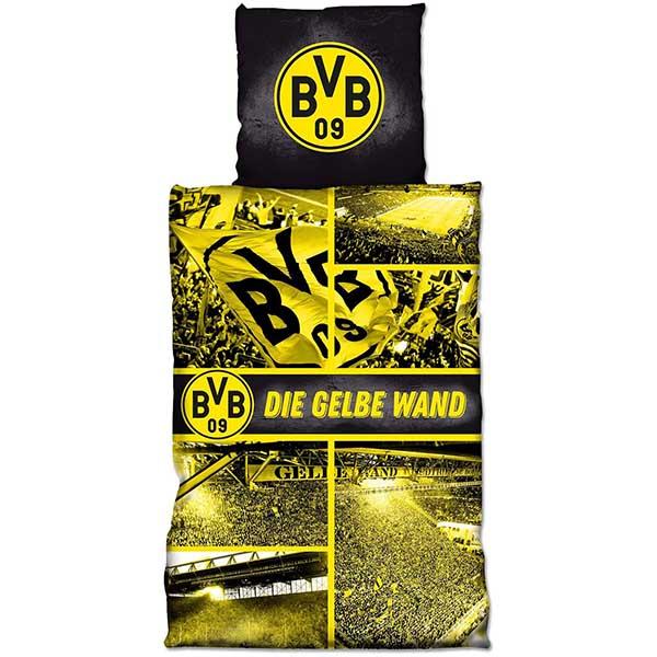 BVB Bettwäsche Die gelbe Wand Biber