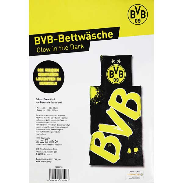 Bvb Bettwasche Glow In The Dark