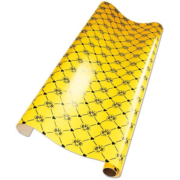 BVB Geschenkpapier Herzen gelb