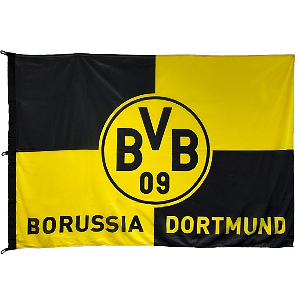 bvb borussia dortmund hissfahne fahne karo flagge 120 x 180 cm ebay. Black Bedroom Furniture Sets. Home Design Ideas