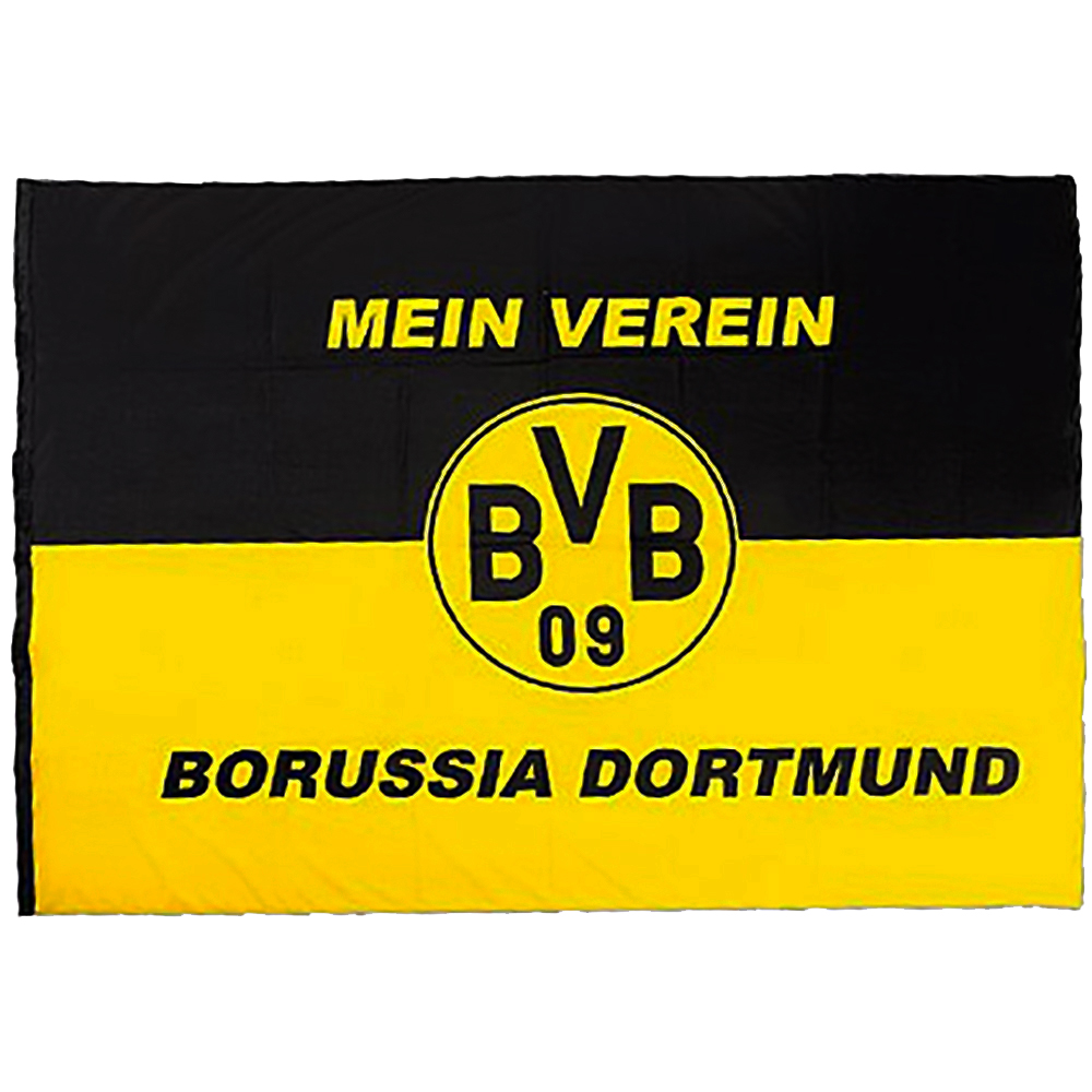 bvb borussia dortmund hissfahne mein verein fahne flagge 200 x 150 cm neu ebay. Black Bedroom Furniture Sets. Home Design Ideas