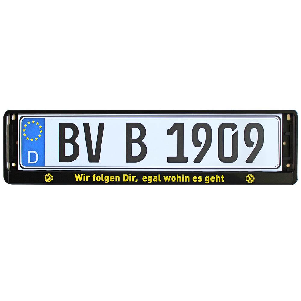 BVB Kennzeichenverstärker Wir folgen Dir, egal wohin es geht