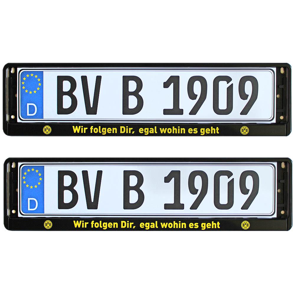 BVB Kennzeichenverstärker Wir folgen Dir, egal wohin es geht 2er-Set