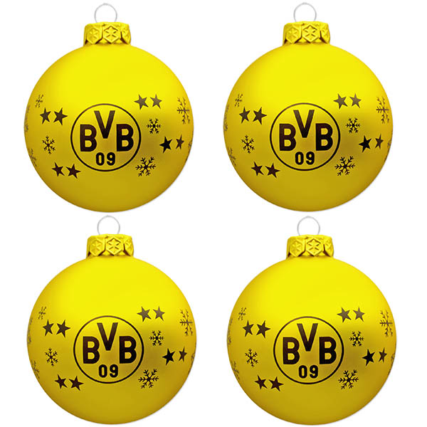 BVB Christbaumkugeln 4er-Set