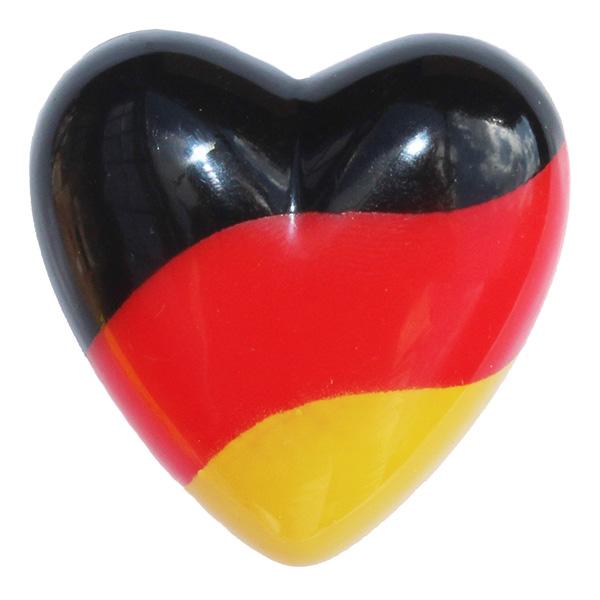 Deutschland Fanartikel LED Herz Anstecker