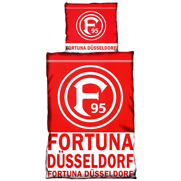 fortuna d sseldorf bettw sche schriftzug. Black Bedroom Furniture Sets. Home Design Ideas