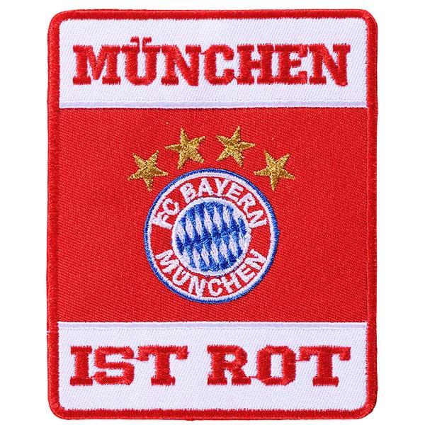 FC Bayern München Aufnäher München ist rot