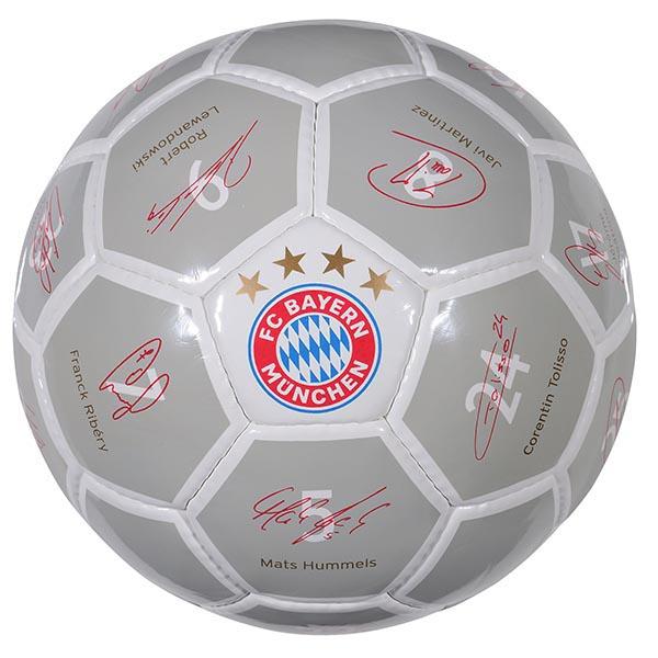 FC Bayern München Ball Unterschriften 2017/2018 gross