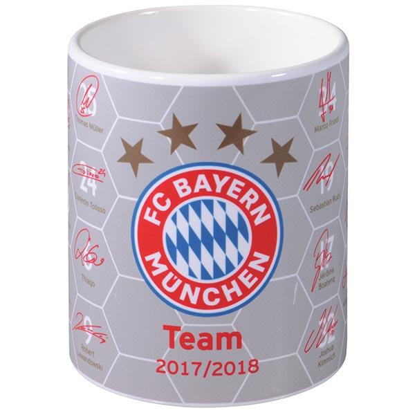 FC Bayern München Tasse Unterschriften 2017/2018