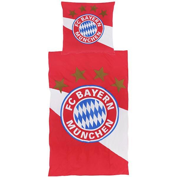 FC Bayern München Bettwäsche Rot / Weiß Biber