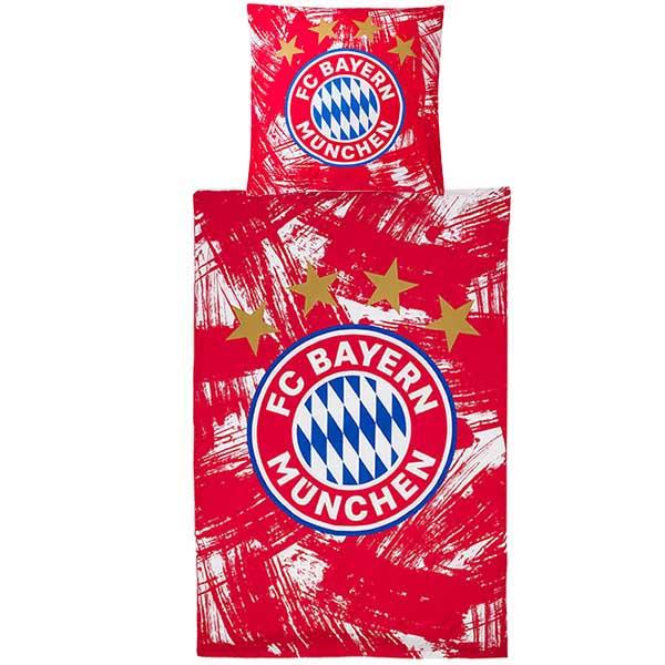 FC Bayern München Bettwäsche Biber Malerstreifen