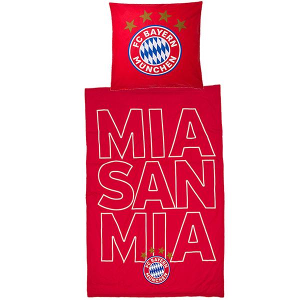 FC Bayern München Bettwäsche mia san mia Glow in the dark