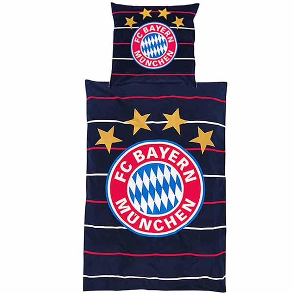FC Bayern München Bettwäsche Stripes
