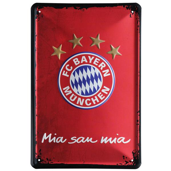 FC Bayern München Metallschild Mia san mia