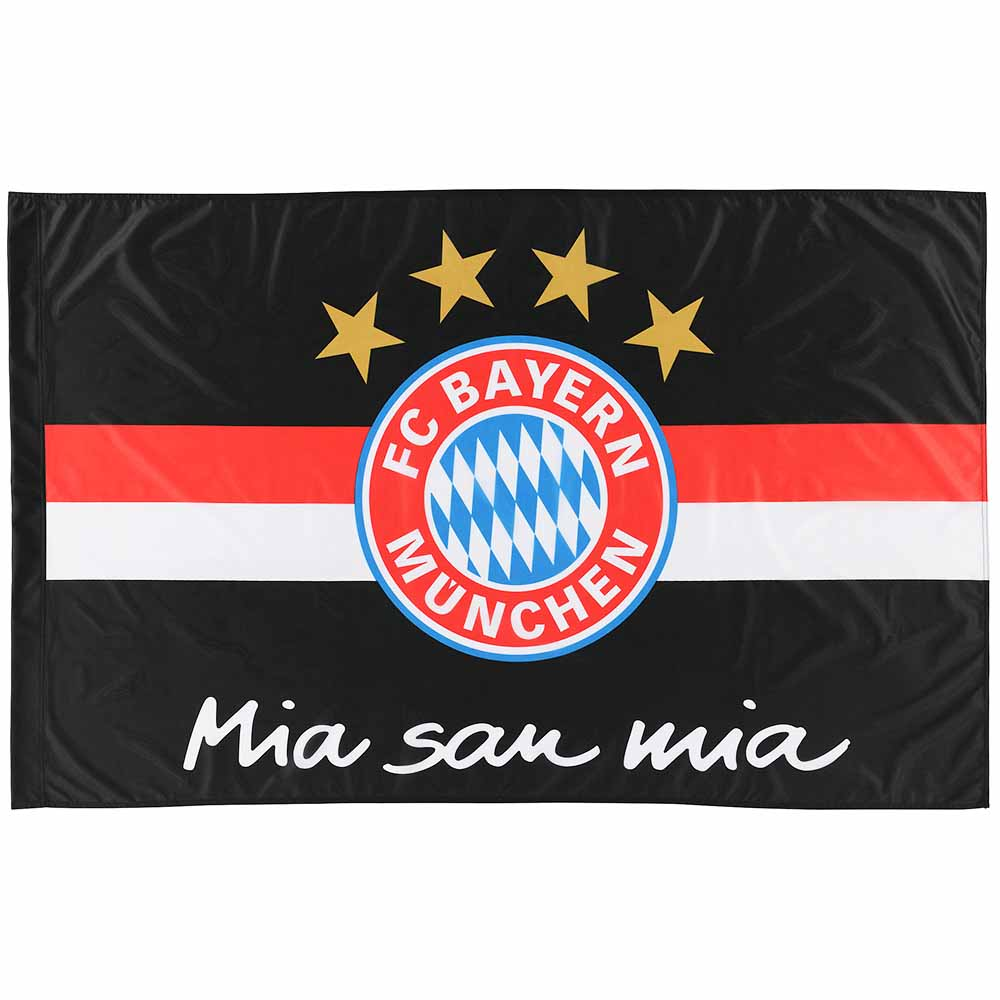fc bayern m nchen fahne mia san mia flagge fc bayern m nchen logo 150 x 100 ebay. Black Bedroom Furniture Sets. Home Design Ideas