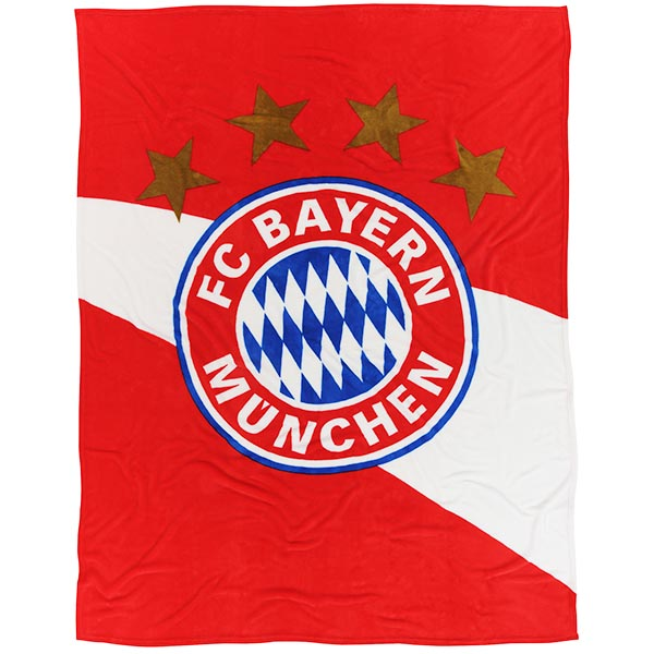 FC Bayern München Decke Logo rot weiss