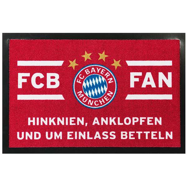 FC Bayern München Fussmatte Hinknien