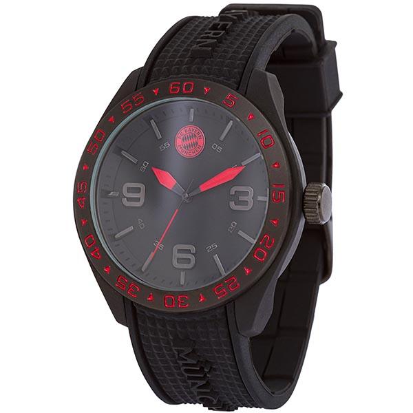 FC Bayern München Armbanduhr schwarz rot