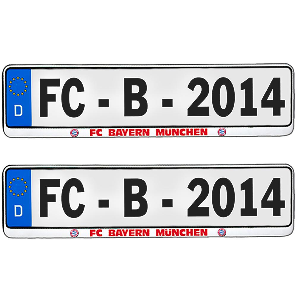 FC Bayern München Kennzeichenverstärker 2er-Set