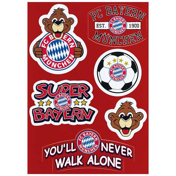 FC Bayern München Aufkleberkarte