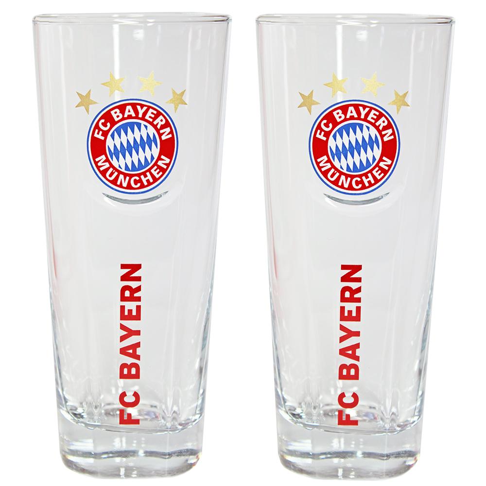FC Bayern München Glas 0,3 Liter 2er-Set