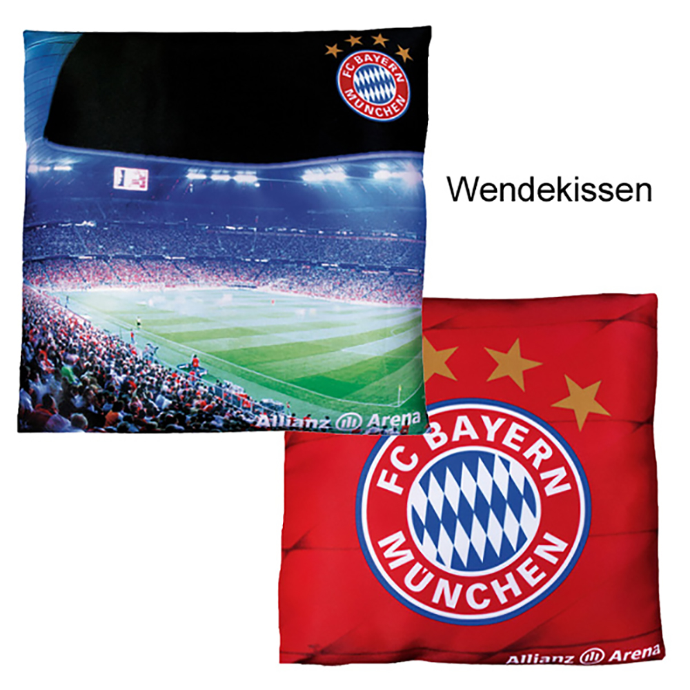 fc bayern m nchen kissen allianz arena. Black Bedroom Furniture Sets. Home Design Ideas